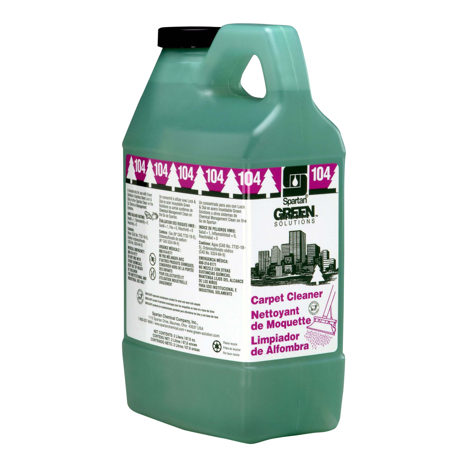 GREEN SOL.COG#104 CARPET CLNR (4-2LTRS)