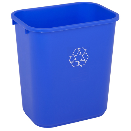 BLUE RECYCLE WASTEBASKET 28QT (8181)