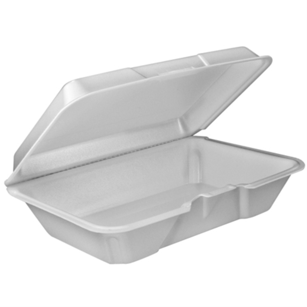 DART 9X6X3 1 COMPARTMENT FOAM CONTAINER W/REMOVABLE LID(200