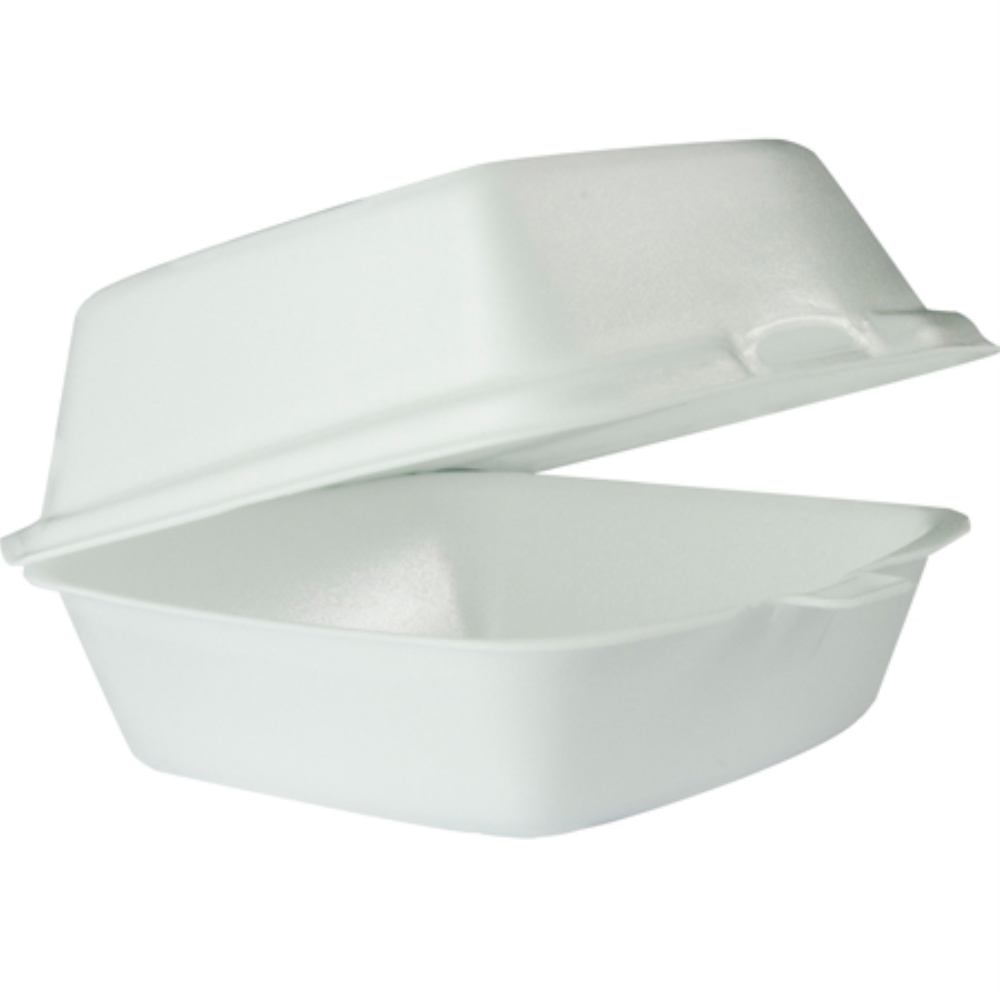 DART 6X6 1 COMPARTMENT FOAM HINGE CONTAINER  (500)
