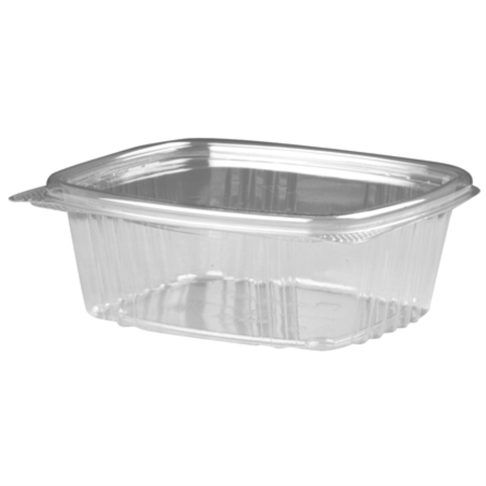 12OZ DELI CONTAINER HINGED CLEAR (200/CS)