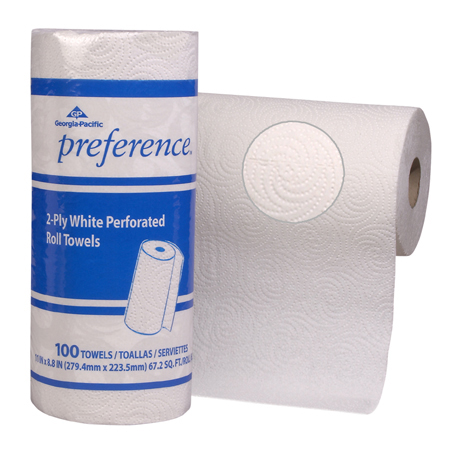 PREFERENCE 2PLY WHT ROLL TOWEL 30/CS