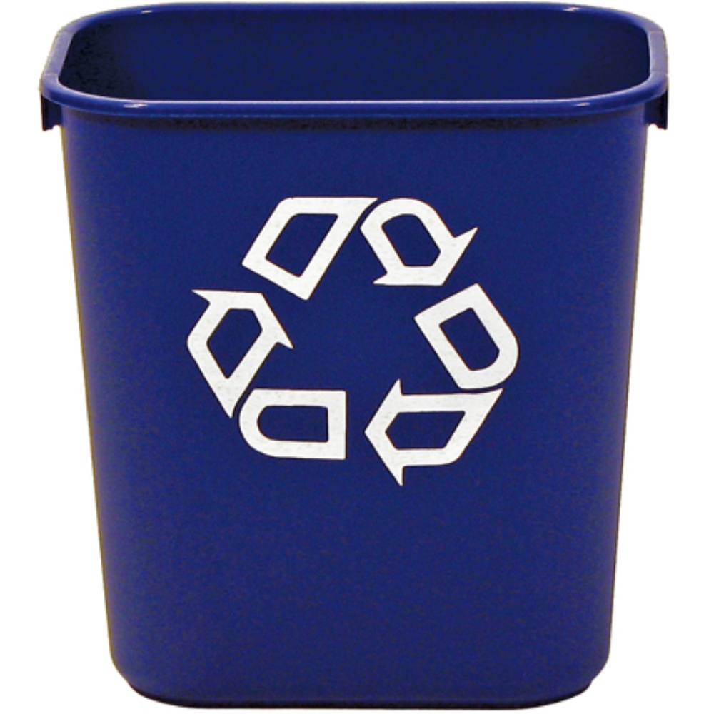 13 5/8QT RECYCLING CONTAINER DESKSIDE BLUE
