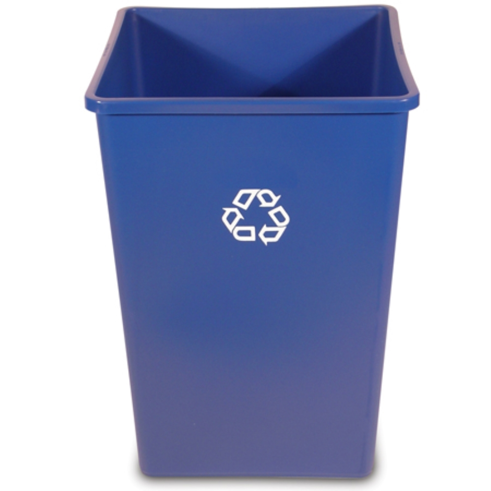 RCP BLUE 35GAL SQUARE RECYCLE CONTAINER
