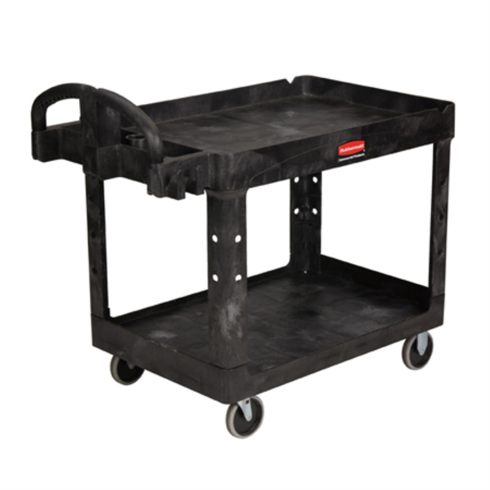 BLACK HD UTILITY CART 2 SHELF