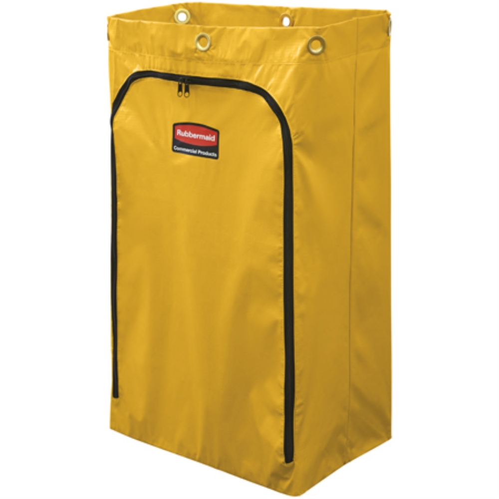 RCP YELLOW VINYL REPLACEMENT BAG W/ZIPPER FITS(6173 &