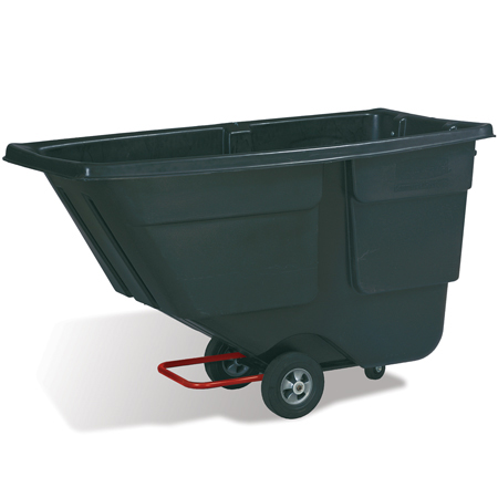 RUBBERMAIND 1 CUBIC YARD TILT TRUCK BLACK