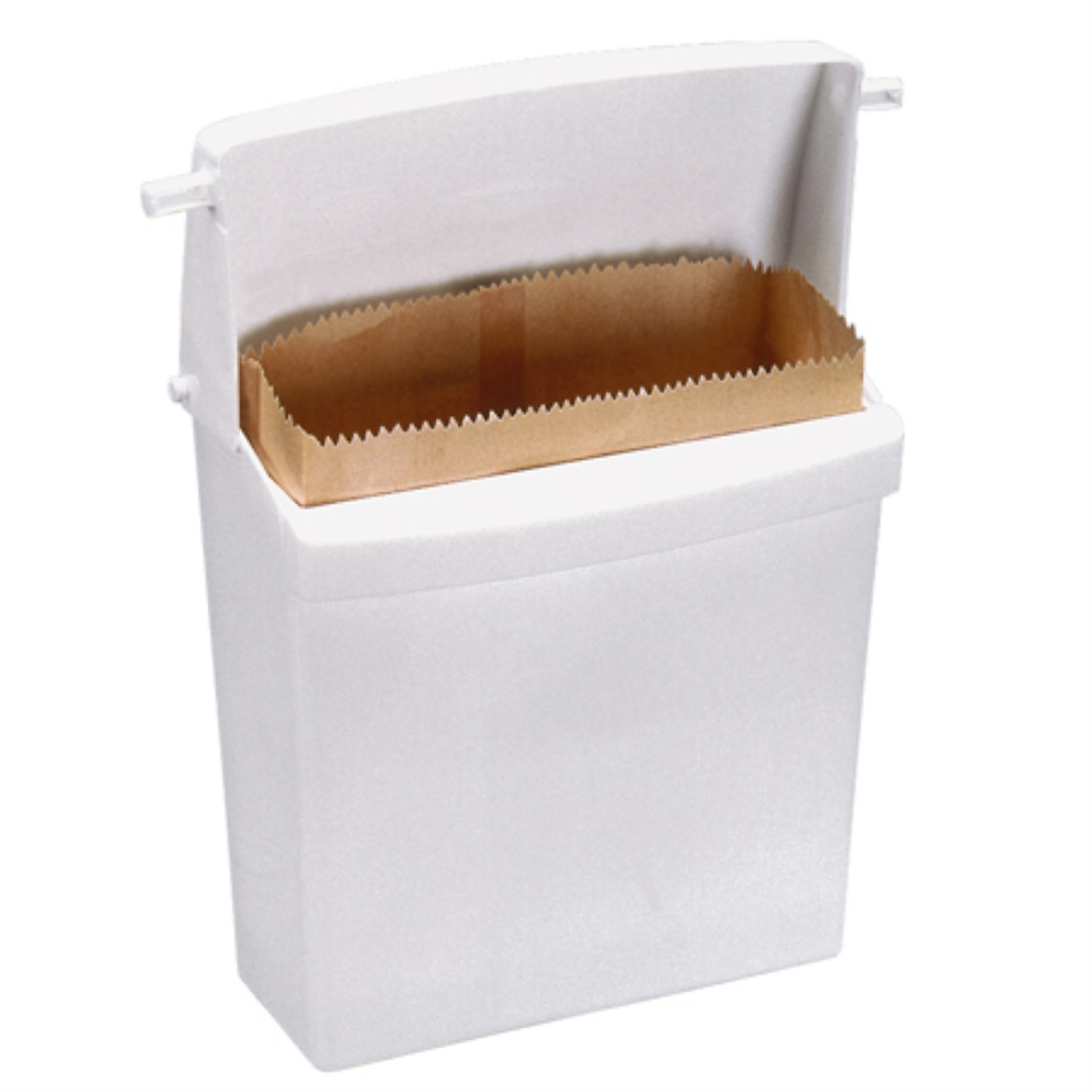 WHITE PLASTIC SANITARY NAPKIN DISPENSER