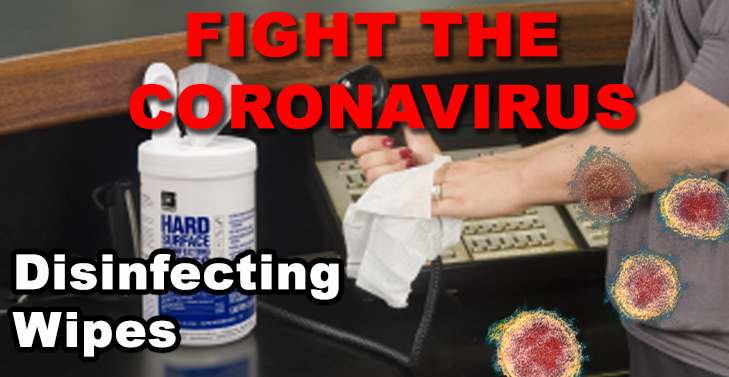 Disinfecting Wipes with coronavirus claims
