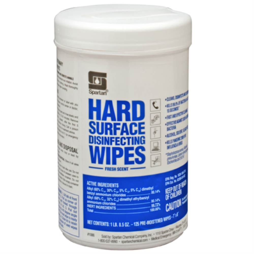 SPA HARD SURFACE DISINFECTING WIPES FRESH SCENT 6/125